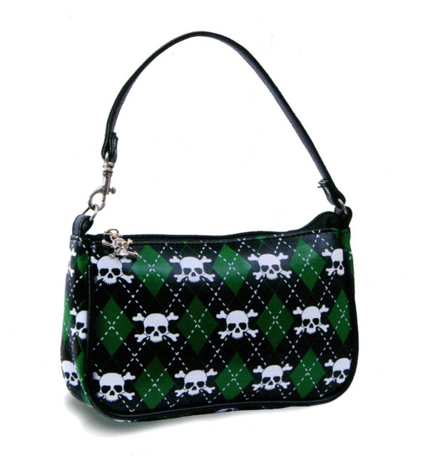 Liquorbrand Green Argyle Purse