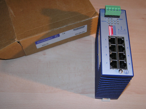 NEW - Hirschmann RS2-TX 943 686-002 943686002 Unmanaged Switch 8TX IE open box