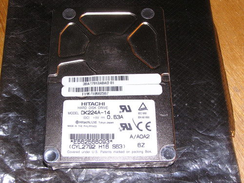 """HITACHI DK224A-14 1.44 GB Internal 4200RPM 2.5"""" PATA used excellent tested"""