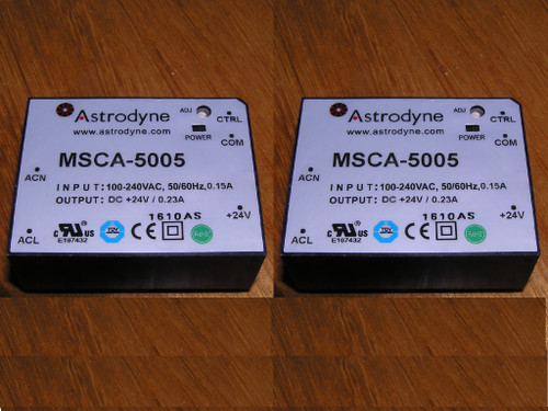 NEW - Lot of 2x Astrodyne MSCA-5005 100-240VAC 24VDC 5Watt encapsulated PSU