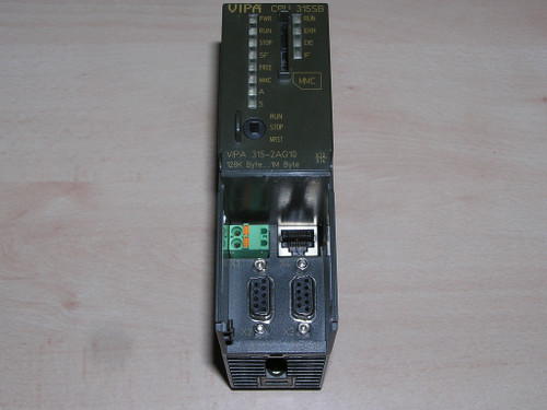 VIPA 315-2AG10 E:01 CPU 315SB/DPM - SPEED7 technology used good with new battery