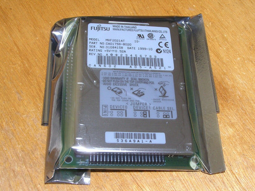 "NEW - Fujitsu MHF2021AT CA01758-B020 2.1GB Internal 4200RPM 2.5"" PATA sealed OEM"