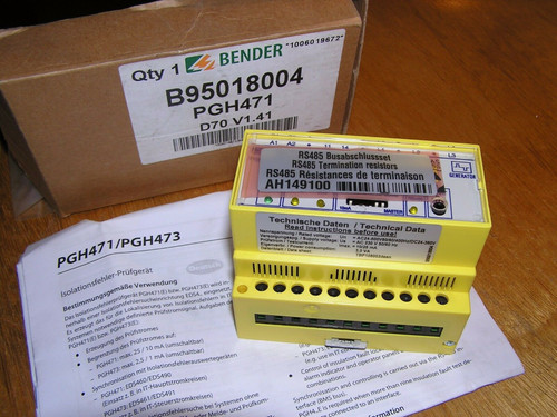 NEW - Bender PGH471 B95018004 D70 V1.41 insulation fault test device open box