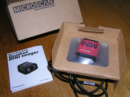 NEW - MICROSCAN Quadrus MINI FIS-6300-0003G Ultra High Density Barcode Scanner