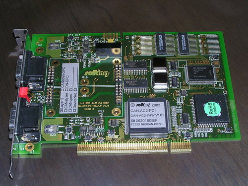 Softing CAN-AC2-PCI V1.01 (2003) CAN bus 2 Ch. Interface Card PCI used excellent