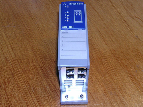 Hirschmann MM2-4TX1 MICE Media Module 943722001 943 722-001 10BASE-T/100BASE-TX