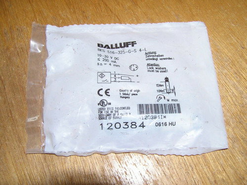 NEW - Balluff BES 516-325-G-S4-L BES03AR 120384 Inductive sensor factory sealed