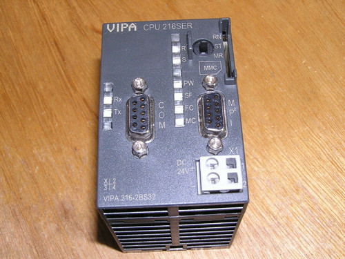 VIPA 216-2BS32 E:1 CPU 216SER with RS485 used in as new condition