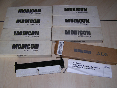 NEW old stock - Lot of 8 MODICON AEG AS-8534-000 Low Density Conn original box