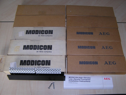 NEW old stock - Lot of 10 MODICON AEG AS-8535-000 High Density Conn original box