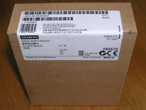 NEW - Siemens 6ES7322-1BL00-0AA0 E:08 Simatic S7-300 SM322 32DO factory sealed