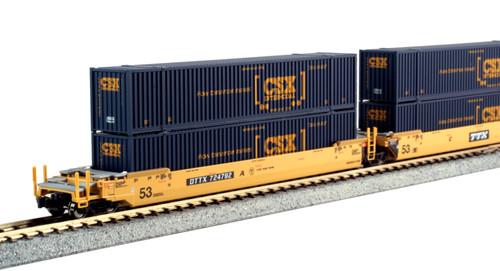 KAT-106-6175 TTX Maxi-IV w/CSX 53' Containers