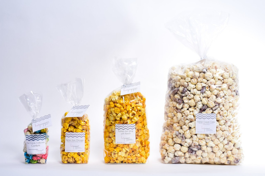 HOTPOPPIN GOURMET POPCORN | THE MEDUM BAG | 1.5 CUPS OUR HOTPOPPIN BAG SIZES: MINI, MEDIUM, LARGE, PARTY