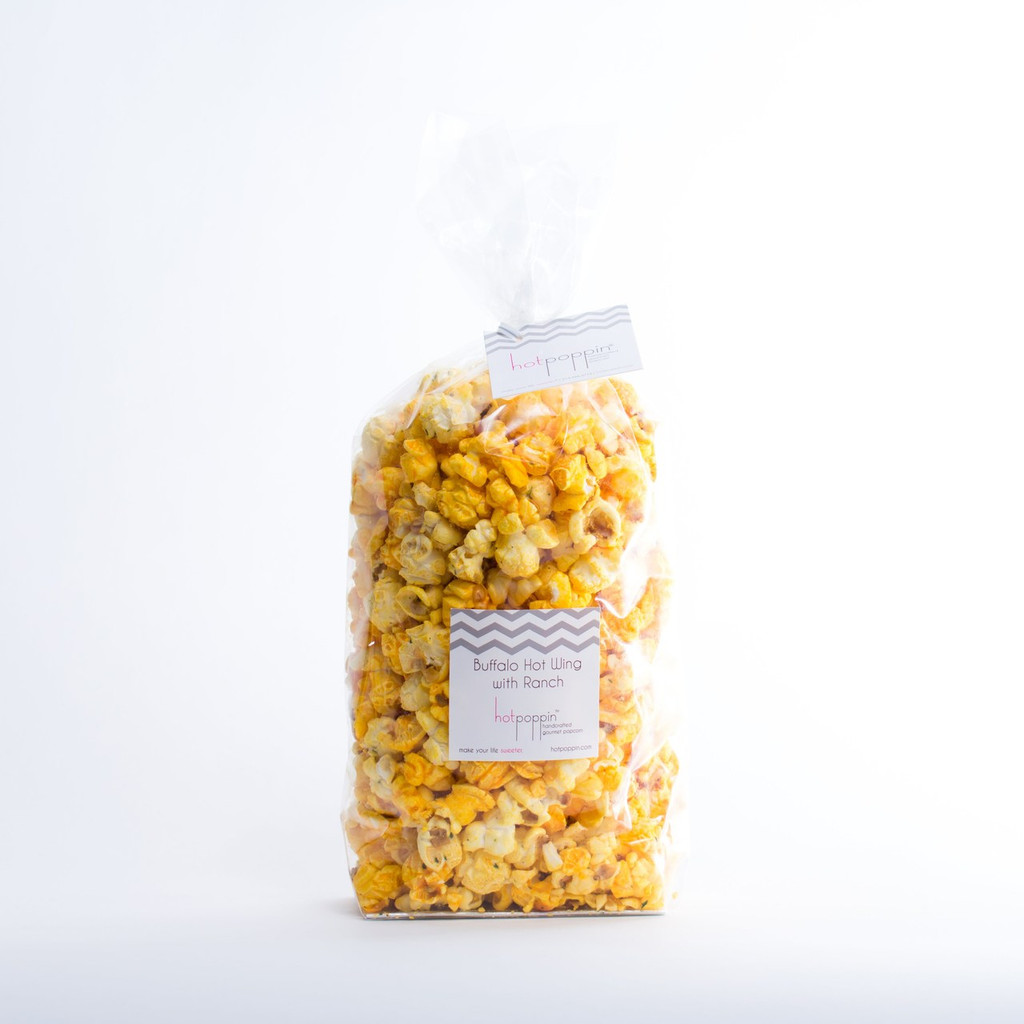 Our Large Hotpoppin Bag is perfect for 5-10 people, and holds 6 cups of our Gourmet Popcorn.