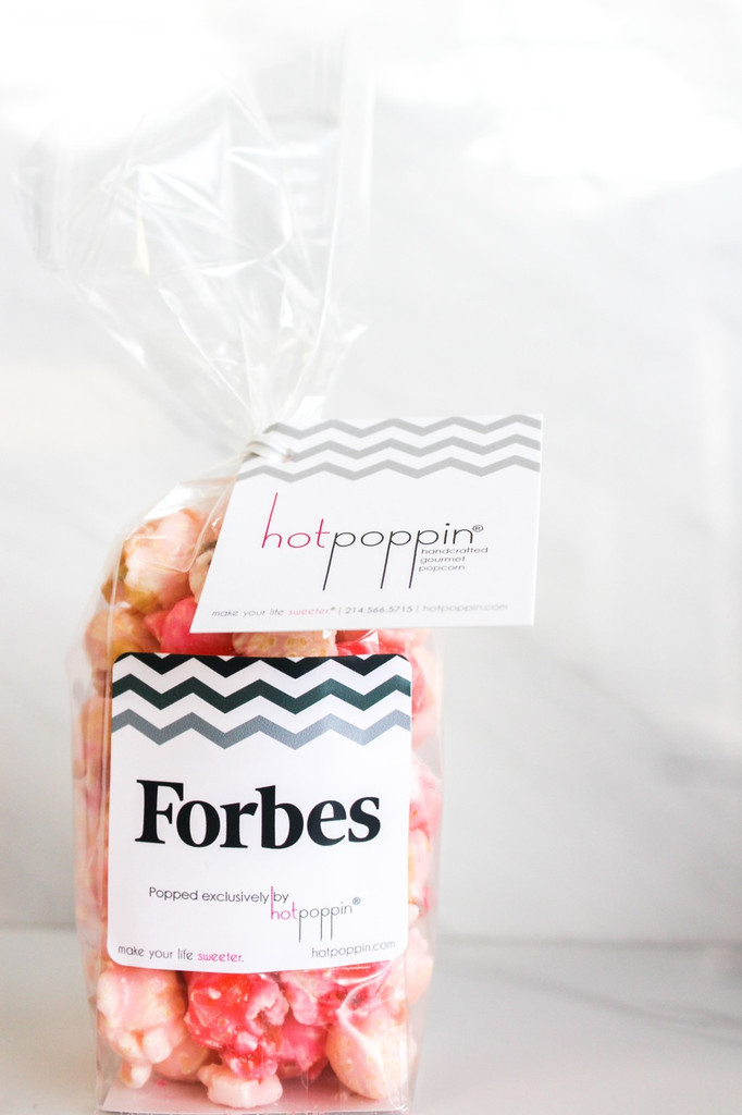 The Forbes  Customized Mini Hotpoppin Bag was created for an event for the FORBES 30 under 30 event in Boston!