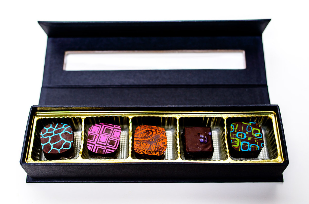5 of our artisanal chocolate truffles.