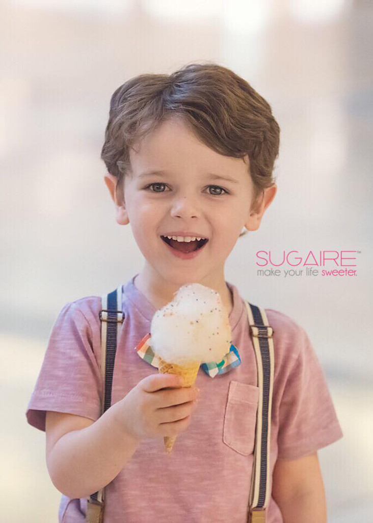 Our 32 oz bucked of Sugaire Organic Cotton candy is perfect for sharing!