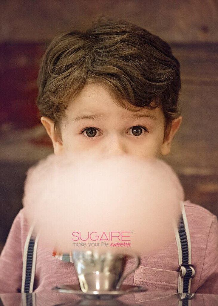 Our 32 oz bucket of Sugaire Organic Cotton candy is perfect for sharing!