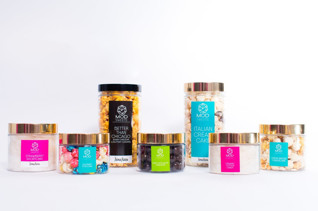Modsweets   Our exclusive collection of gourmet popcorn, cotton candy, chocolates and gummies.  Available in select stores nationwide.