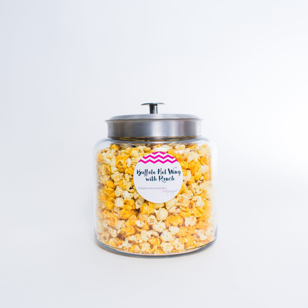 OUR DIY HOTPOPPIN GOURMET POPCORN BAR SHIPS DIRECTLY TO YOU WITH EVERYTHING THAT YOU NEED TO MAKE YOUR EVENT A LITTLE SWEETER!   THE SHIPMENT WILL INCLUDE: - 1 LARGE GLASS JARS   - 1 FLAVORS OF OUR TOP SELLERS ASSORTMENT OF GOURMET POPCORN  - SERVING MATERIALS: 1 SCOOPS, 50 SERVING CONES,  1 FLAVOR LABEL