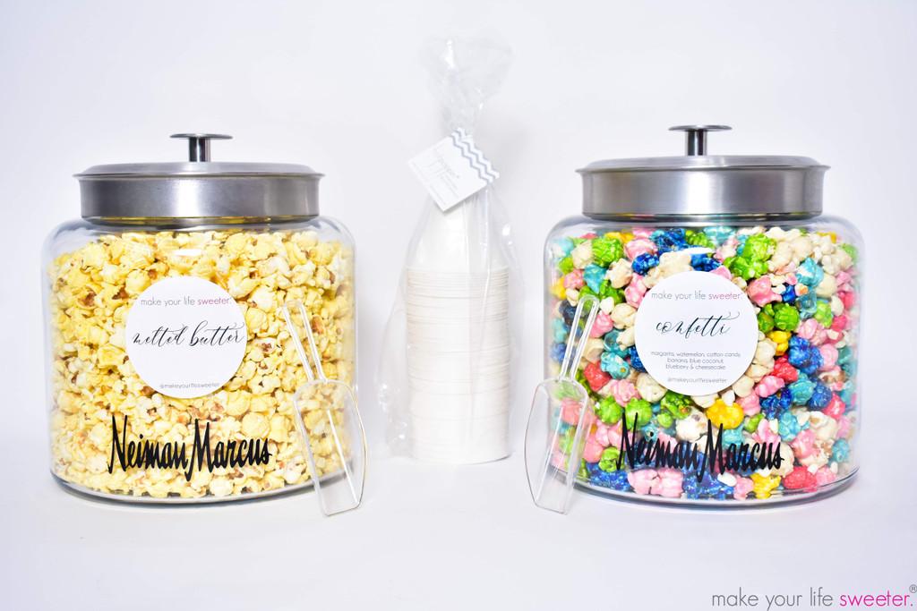 *CUSTOMIZED* DIY HotPoppin Gourmet Popcorn Bar  | 1 Glass Jars with Gourmet Popcorn | 35 Servings
