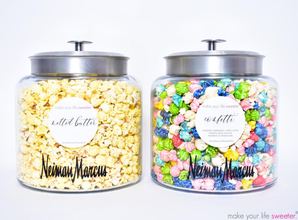 *CUSTOMIZED* DIY HotPoppin Gourmet Popcorn Bar    1 Glass Jars with Gourmet Popcorn   35 Servings