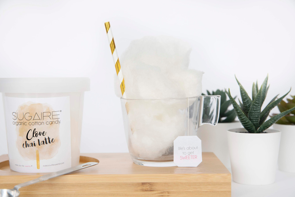 """Do you miss your friends while in quarantine mode?  Make Your Life Sweeter® has created the """"HOT TEA COTTON CANDY INFUSION"""" gift box to make your quarantine sweeter! The box includes 1 Sugaire Organic Cotton Candy Pint in our Clove Spiced Latte Flavor, 1 Tea Cup, 1 Paper Straw, and  1 Tea Bag.   Make Your Life Sweeter® treats and is customized with your selfie! This is the perfect gift to let your friends and family know that you're missing them!  #missyourface #cabinfever #quarantine #coronavirus #coronavirusgift #getwellsoongift #hotteainfusion"""