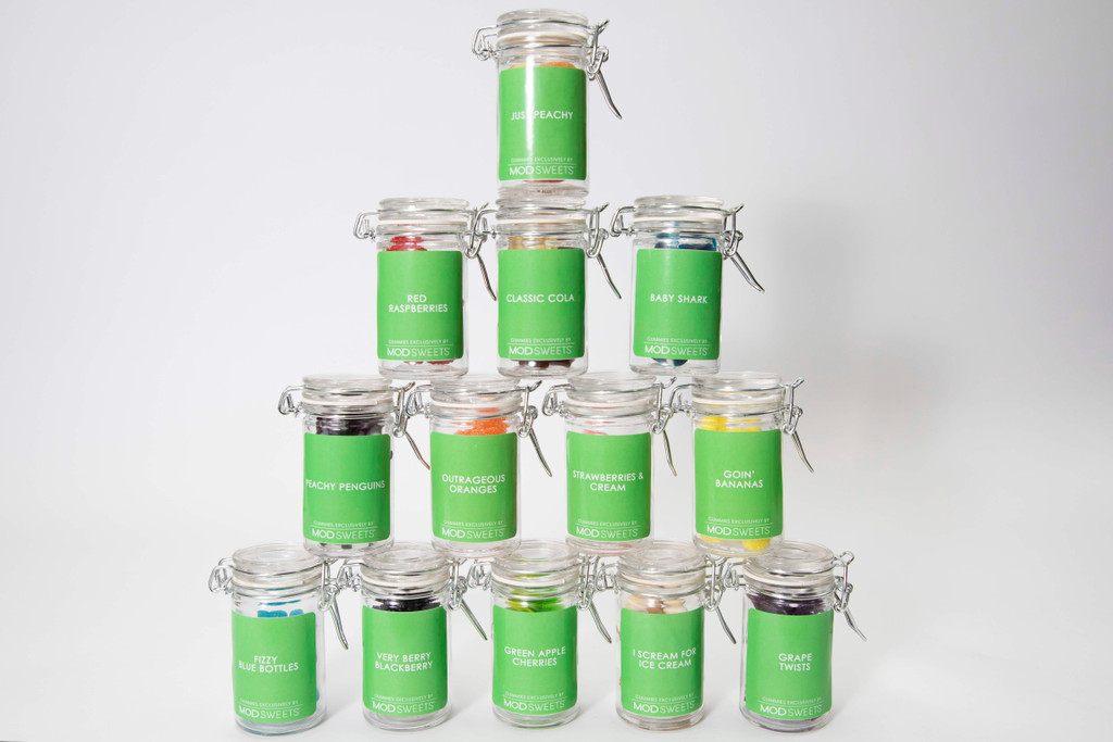 Our gourmet Halal gummies in a 3 inch mini mason jar always makes life a little sweeter!