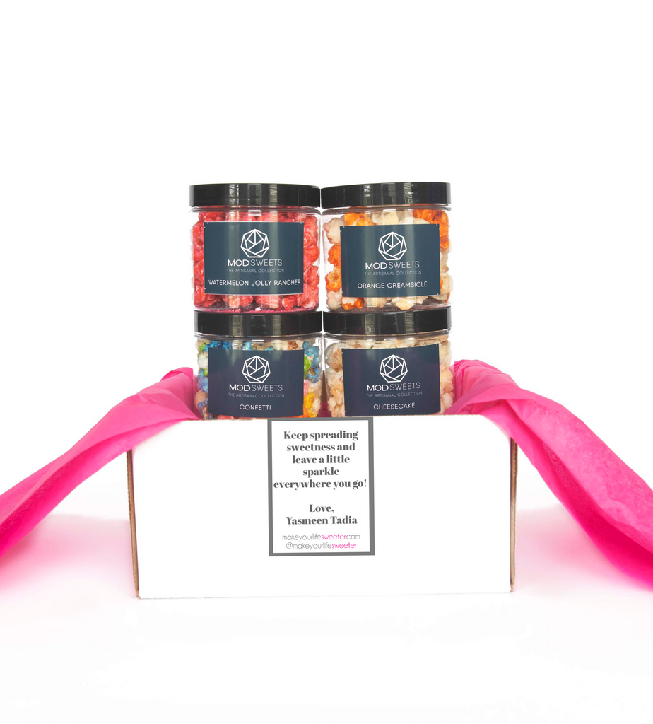 Modsweets Artisanal Popcorn Subscription - never ending flavors to satisfy ANY craving! Delivered straight to your door!