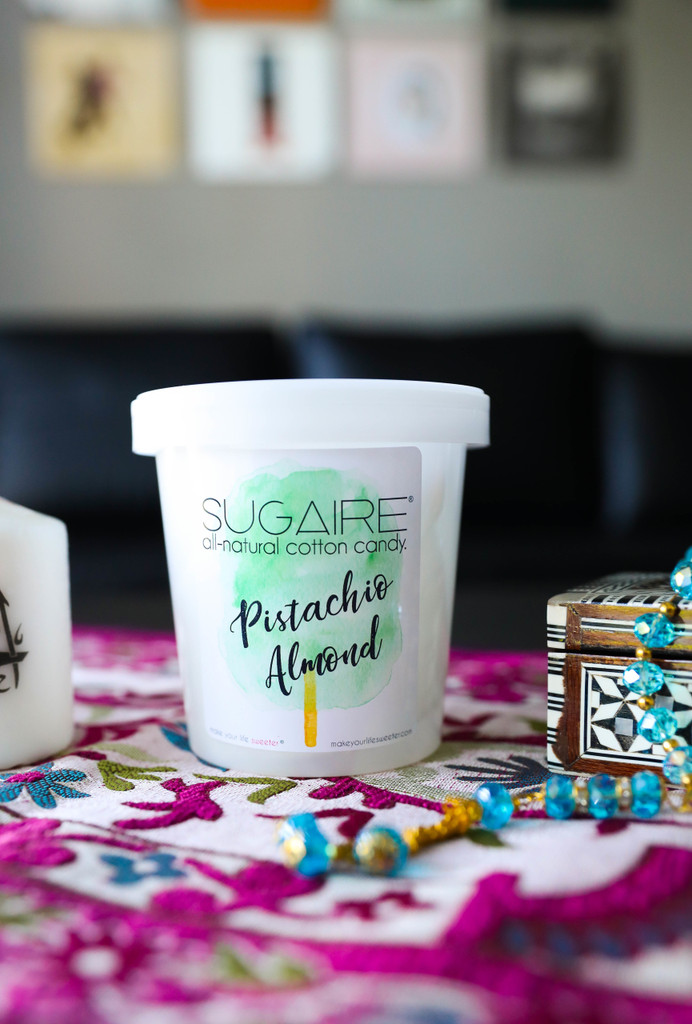 A tower of our Sugaire Organic Cotton Candy is PERFECT for party favors as your guests walk out!  Individually, these make the SWEETEST place settings too!  Organic Cane Sugar   Dye-Free   Natural, Plant-Based Colors   Halal, Vegan & Kosher   Gluten-Free