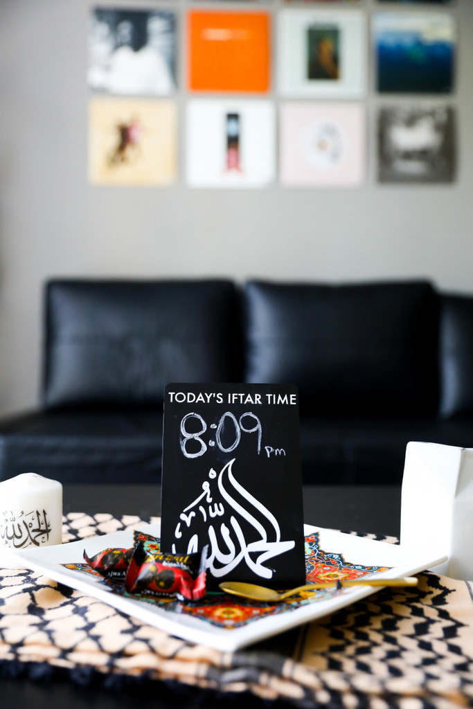 Write today's Iftar time on this customized chalkboard sign!