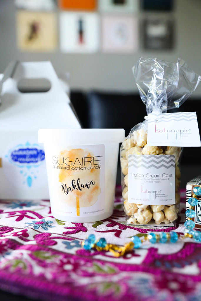 Make Your Life Sweeter - two sweet treats! The perfect pair! One Sugaire organic cotton candy pint & one mini bag of Hotpoppin gourmet popcorn!