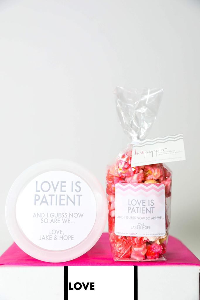 """Wedding  Postponement  - """"Love is Patient."""" - 2 Sweet treats"""