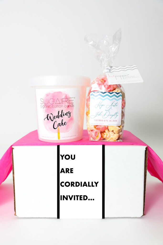 """Virtual (ZOOM) Wedding Announcement  - """"Like Beyonce, but with an F"""" - 2 Sweet treats"""