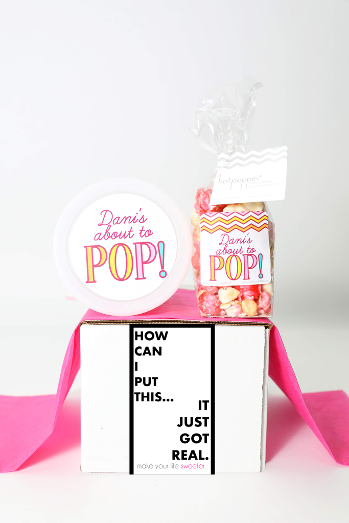 """Pregnancy Announcement  - """"IT JUST GOT REAL"""" - 2 Sweet treats"""
