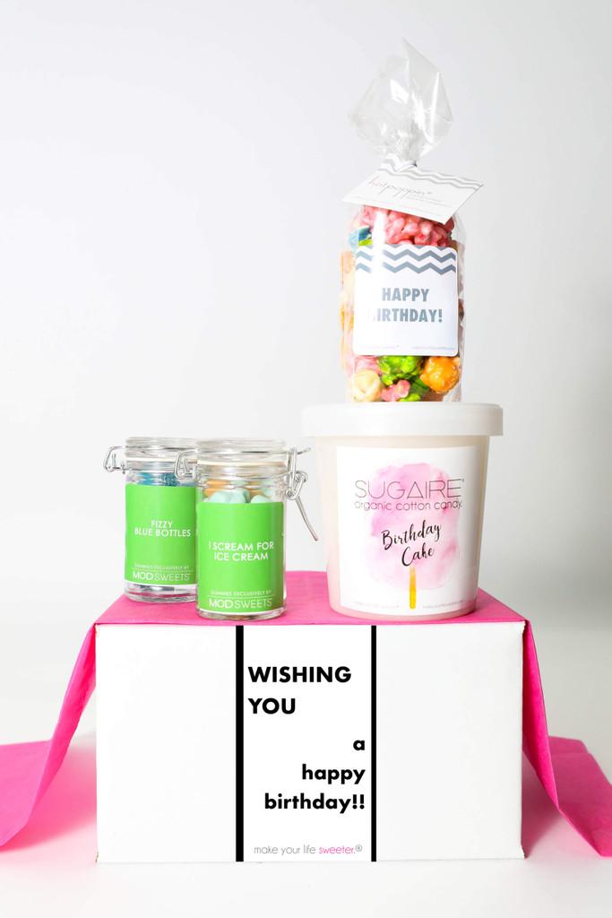 "Birthday Gift  - ""WISHING YOU A HAPPY BIRTHDAY"" - 4 Sweet treats"