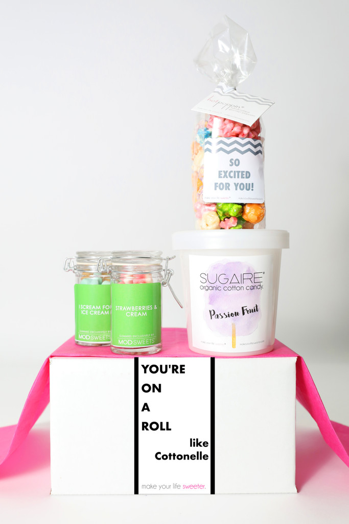 """Congrats Gift  - """"YOU'RE ON A ROLL"""" - 4 Sweet treats"""