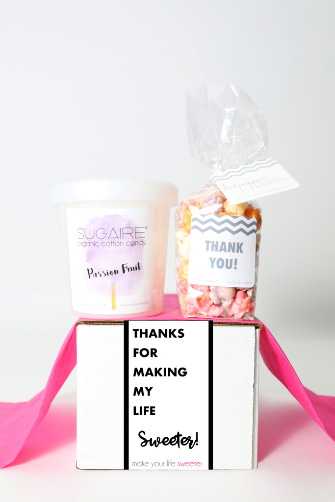 """Thank You Gift  - """"THANKS FOR MAKING MY LIFE SWEETER"""" - 2 Sweet treats"""