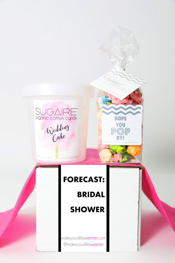 "Bridal Shower Invitation Gift  - ""FORECAST BRIDAL SHOWER"" - 2 Sweet treats"