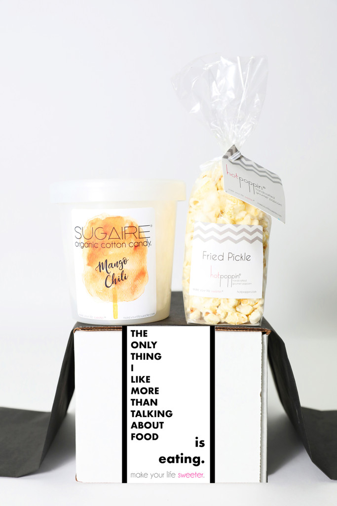 """Foodie Gift - """"THE ONLY THING I LIKE BETTER THAN TALKING ABOUT FOOD IS EATING."""" - 2 Sweet treats"""