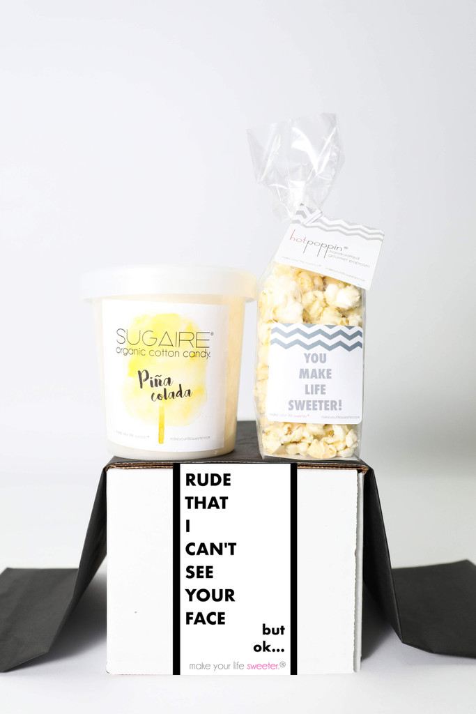"""Miss You Gift - """"RUDE THAT I CAN'T SEE YOUR FACE"""" - 2 Sweet treats"""
