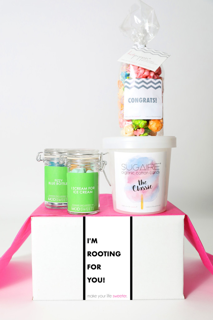 "Encouragement Gift - ""I'M ROOTING FOR YOU!"" - 4 Sweet treats"