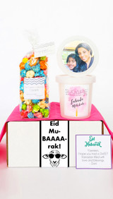 I Miss Your Face gift box | Sweet treats for combatting quarantine!  Upload your selfie (or your family's selfie) and we will customize this gift box to be shipped out to your favorite peeps! Includes a 4 cup bag of our gourmet popcorn and two pints of our Organic Cotton Candy