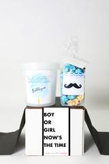 "Baby Gender Reveal  - ""Boy or Girl?"" - BOY - 2 Sweet treats"