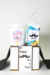 "Baby Announcement  - ""IF YOU MUSTACHE... IT'S A BOY!"" - 2 Sweet treats"