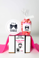 Baby Announcement  - BIRTHDAY STATS - YOU CHOOSE BOY OR GIRL - 2 Sweet treats