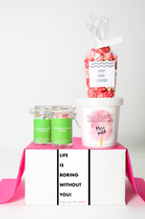 "Love You Gift  - ""LIFE IS BORING WITHOUT YOU"" - 4 Sweet treats"