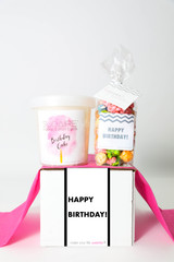 "Happy Birthday Gift  - ""HAPPY BIRTHDAY"" - 2 Sweet treats"