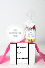"""Congrats Gift  - """"HOORAY! YAY! CONGRATS!"""" - 2 Sweet treats"""
