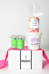 "Thank You Gift  - ""MERCI"" - 4 Sweet treats"